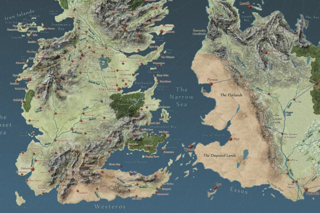 """A map of game of thrones to better answer """"Does Game Of Thrones Take Place On Earth?"""""""